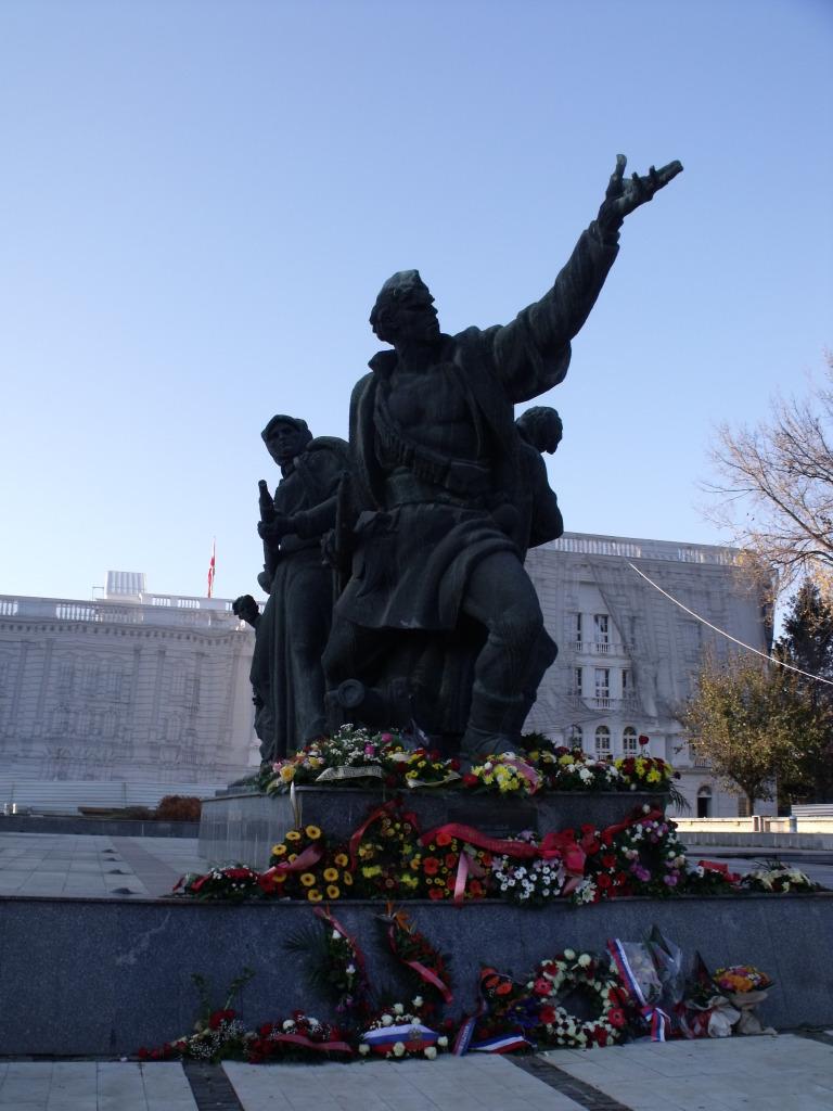 Socialist-era monument Skopje