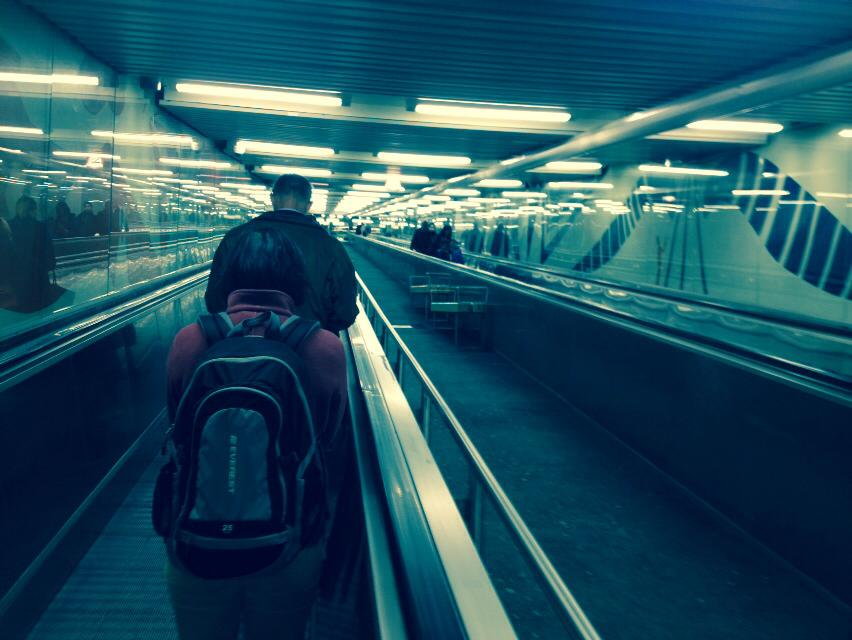 Escalator at Ropsten to deliver people from platform to home. (Photo: Dominic Hinde)