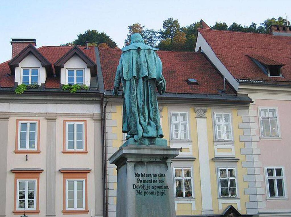 -Monument of Valentin Vodnik, Ljubljana, Slovenia. Photo by By Žiga [Public domain]