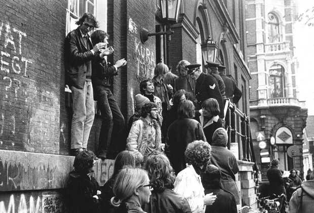 Maagdenhuis occupation, 1969.