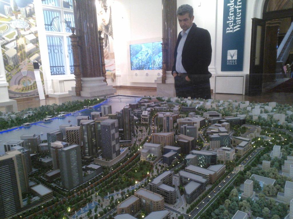 Model of Belgrade Waterfront masterplan