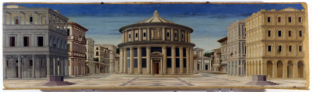 The ideal city: attributed to Luciano Laurana or Melozzo da Forlì