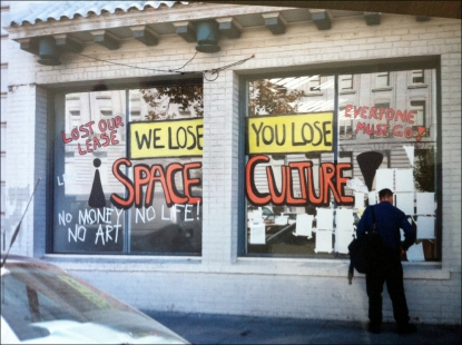 We Lose Space, Installation by Megan Wilson and Gordon Winiemko, San Francisco Art Commission Grove Street Gallery (across from SF City Hall), San Francisco, CA, 2000, photo by Megan Wilson