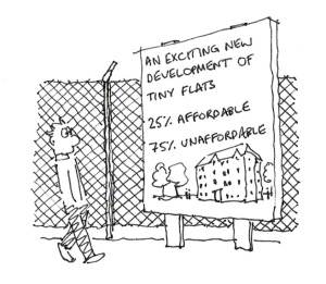 Housing Cartoon from Southwark Notes