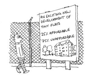 Housing Cartoon from Southwark Notes